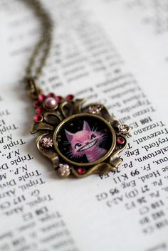 The Cheshire Cat original cameo by Mab Graves by mab graves, via Flickr