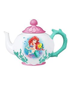 This The Little Mermaid Ariel & Flounder Ceramic Teapot is perfect! #zulilyfinds