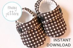 Baby Shoe Pattern - Little Man Shoes - INSTANT DOWNLOAD to buy