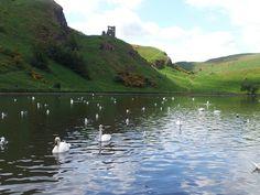 St Margaret's Loch, Holyrood Park, Edinburgh.