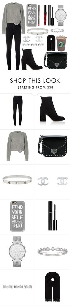 """Find Your Self"" by letiziiacuschieri-i ❤ liked on Polyvore featuring J Brand, Gianvito Rossi, Designers Remix, Valentino, Cartier, Chanel, Casetify, Skagen, Eddie Borgo and Caffé"