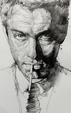 Pencil Portrait Mastery - closeup of Jude by Alvin Chong Discover The Secrets Of Drawing Realistic Pencil Portraits... pencil-portrait-m... - Discover The Secrets Of Drawing Realistic Pencil Portraits
