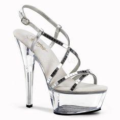 """Pleaser SHOES & BOOTS : Platforms (Exotic Dancing) : 6"""" - 6 1/2"""" Heel"""