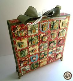 Learn how to make your own advent calendar with a great step-by-step tutorial by Maria at the end of this blog! Supplies include our 12x12 Matchbook box and The Twelve Days of Christmas! #graphic45 #tutorials