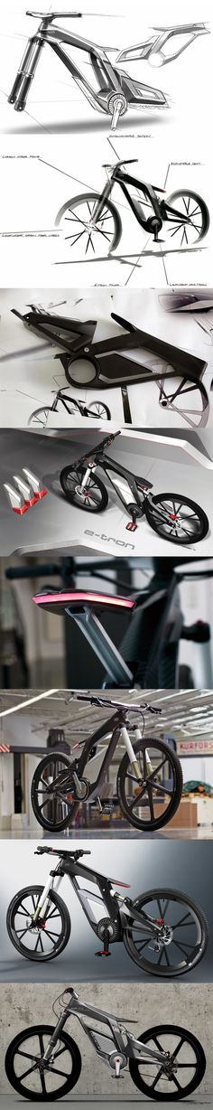 Designing the AUDI e-bike worthersee. THECYCLINGBUG.CO.UK #thecyclingbug #cycling #bike