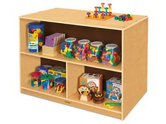 Classic Birch Preschool Double-Sided Storage Unit at Lakeshore Learning