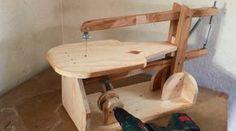 making a homemade scroll saw by using old wooden chair parts and plywood. powered by a drill. --- Çok uygun bir maaliyetle kendi kıl testere makinanızı yapın...