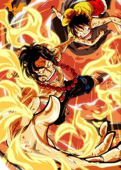 Ace One Piece, One Piece Comic, One Piece Luffy, Manga Anime One Piece, Manga Art, Otaku Anime, Anime Guys, Bleach Anime Art, Best Animes Ever