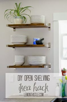 Colleen from Lemon Thistle jumped on the open shelving trend with this cute Ikea shelves.