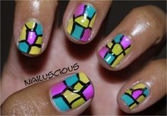 Nailuscious: Day 12: Stained Glass