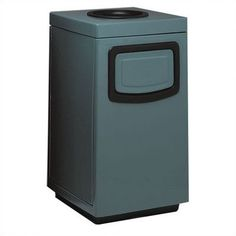 Witt Side Entry Square Series Ash 'N Trash with Doors on Trash Opening and Side Color: Indian Clay, Gallon Capacity: 30
