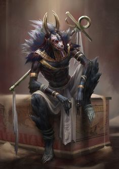 Marvelously creepy Anubis by yefumm on deviantart. (Sounds like a man but is a female)