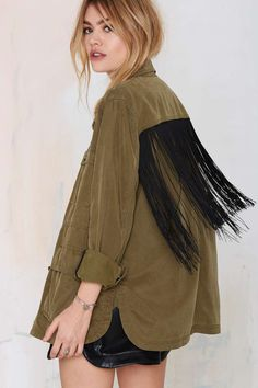 Blank NYC Monet Fringe Jacket
