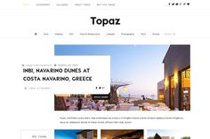 Topaz - Contemporary Magazine & Blog by Theme Bullet on Creative Market