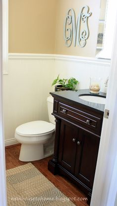 bathroom wainscotting