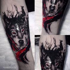 tattoo wolf trash polka plotnikovasketch tattoo tattoo wolf tattoo ideas sketches tattoos order a sketch . Tribal Scorpion Tattoo, Wolf Tattoo Forearm, Small Wolf Tattoo, Wolf Tattoo Sleeve, Arrow Tattoo, Tattoo Sleeve Designs, Sleeve Tattoos, Viking Tattoo Sleeve, Wolf Tattoos