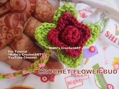 How to Croche- Simple DIY Flower Bud Leaf Stitch Tutorial for Beginners
