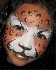 Face Paint cat leopard