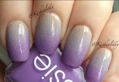 Ombré nude gray purple nails #gradient