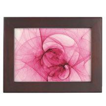 Pink Fractal Art Memory Box