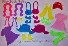 Felt Doll My Little Let's Play Dress Up Felt by StorybookFelts