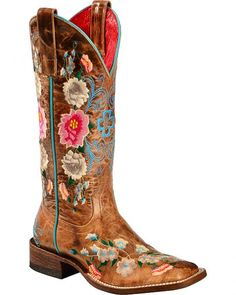Anderson Bean Boots Macie Bean Rose Garden Cowgirl Boots - Square Toe