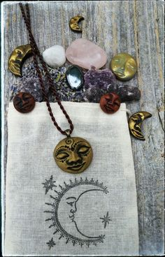 Your place to buy and sell all things handmade Moon Earrings, Moon Necklace, Crystal Earrings, Clay Jewelry, Jewelry Gifts, Moon Time, 1 Rose, Gift Of Time, Clay Design