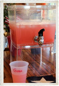 Perfect Lemonade Punch Recipe ~ perfectly refreshing...powdered lemonade mix, water, Sprite, and pineapple juice.