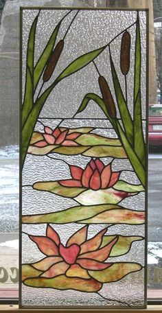 Williams lotus stained glass Plus Stained Glass Quilt, Stained Glass Flowers, Faux Stained Glass, Stained Glass Designs, Stained Glass Panels, Stained Glass Projects, Stained Glass Patterns, Leaded Glass, Mosaic Glass