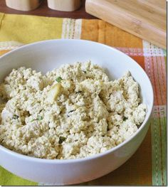 """Tofu Ricotta Cheese: I've never been able to eat """"fake"""" cheese, but this is different.  My son goes crazy for it! I use it with shells, in lasagna and manicotti.  Delish!"""