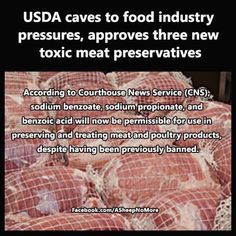 USDA Caves To Food Industry Pressures, Approves 3 New Toxic Meat Preservatives. ... . Kraft, needs to be boycotted on so many levels...