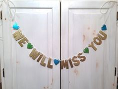 We Will Miss You Banner -- Going Away Party Banner / Photo Prop / Decoration