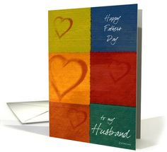 Patchwork Hearts-Husbands Fathers Day card (198203)