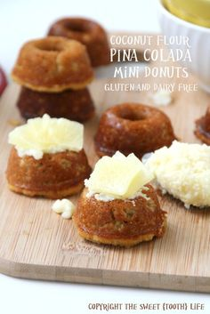 Coconut Flour Pina Colada Mini Donuts - The Sweet {Tooth} Life