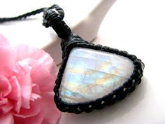 Moonstone pendant / Moonstone Necklace / Moonstone Jewelry / Rainbow Moonstone / trending / Gift for her / Healing stones and Crystals