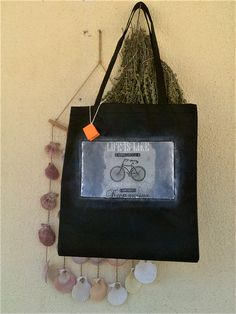 Handmade decorated shopping bag