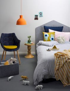 Unisex Modern Kids Bedroom Designs Ideas – Decorating Ideas - Home Decor Ideas and Tips Modern Kids Bedroom, Kids Bedroom Designs, Kids Room Design, Creative Kids Rooms, Peaceful Home, Girl Room, Home Furniture, Children Furniture, Bedroom Decor