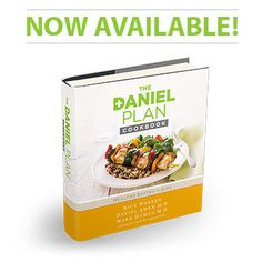The Daniel Plan Cookbook is now available. Based on The Daniel Plan book, The Daniel Plan Cookbook: 40 Days to a Healthier Life is a beautiful four-color cookbook filled with more than 100 delicious, Daniel Plan-approved recipes. Healthy Cook Books, Healthy Cooking, Healthy Life, Healthy Eating, Healthy Choices, Daniel Plan Detox, The Daniel Plan, Detox Recipes, Gourmet Recipes