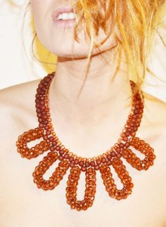 brown daisy necklace