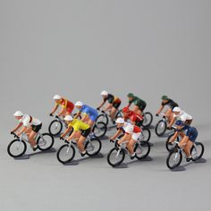 French Metal Cyclist: Made in a foundry in France, as they have been for many years, these hand painted metal cyclists come in an assortment of designs. A perfect gift for the cycling fanatic in your life! If there is a particular cyclist you want, please add a note when you check out, we will do our best to accommodate.