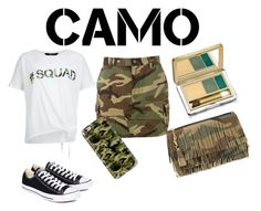 """""""Camo Style"""" by miacoolcat9 ❤ liked on Polyvore featuring New Look, Yves Saint Laurent, Estée Lauder, Casetify, Converse and camostyle"""
