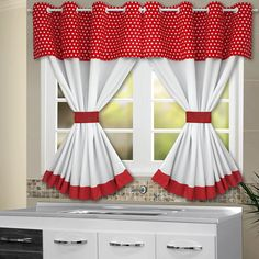 Bed Sheet Curtains, Home Curtains, Curtains With Blinds, Kitchen Curtain Designs, Kitchen Curtain Sets, Country Kitchen Curtains, Simple Kitchen Design, African Home Decor, Home Decor Kitchen