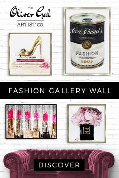Oliver Gal speaks fashion! Our wall art decor collection captures life through fashion. From iconic fashion brands and your favorite haute designers to fancy makeup art and outfit essentials, these art pieces add glamour and sophistication to any decorative style in your home and office. Visit our site to view more and find your next wall-decor piece! Living Room Styles, Living Room Designs, Oliver Gal Art, Fancy Makeup, Outfit Essentials, Home Decoracion, Babe Cave, Woman Cave, Beauty Room