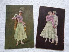 Vintage Couples, Romantic Couples, Elvis Presley Christmas, Dutch Women, Photo Postcards, Antique Art, Antiques, Painting, Ebay