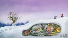 Pinzellades al món Winter Illustration, Children's Book Illustration, Lisa, Winter Is Coming, Four Seasons, Art For Kids, Art Children, Cool Art, Fun Art
