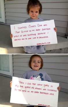 baby shaming, the new dog shaming! Smiles And Laughs, Just For Laughs, Baby Shaming, Funny Lists, Naughty Kids, Funny Animal Pictures, Really Funny, Laugh Out Loud, In This World
