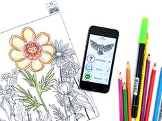 Coloring Pages from Art Therapy Print | Print coloring pages right from your phone…wirelessly! With the Art Therapy Print app, you can browse a variety of beautiful coloring pages and then print right from your phone.