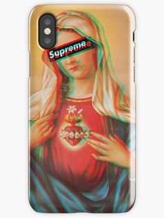 Supreme Phone Case Hypebeast 3D Mother Mary Jesus anti Religion iPhone case and Samsung case