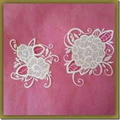 Exclusive Stitches: Lace Roses I Stitch Design, Machine Embroidery Designs, Stitches, Roses, Lace, Stitching, Pink, Rose, Stitch