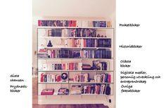 Rensa i bokhyllan - uppdrag vecka 22